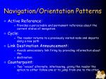 navigation orientation patterns