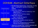 oohdm abstract interface