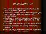 issues with tls