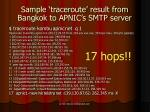 sample traceroute result from bangkok to apnic s smtp server
