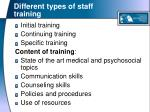 different types of staff training