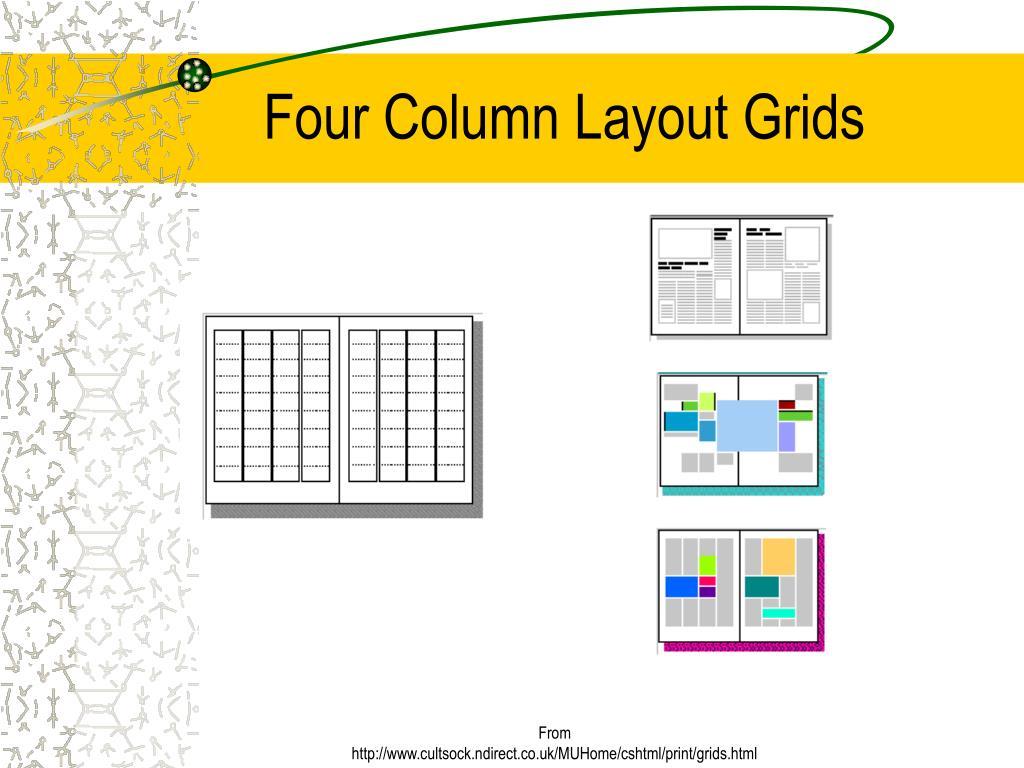 Four Column Layout Grids