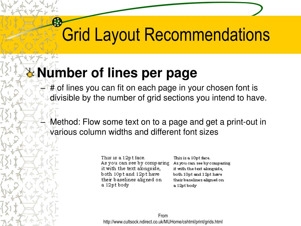 Grid Layout Recommendations