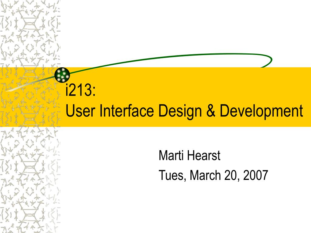 i213 user interface design development l.