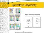 symmetry vs asymmetry