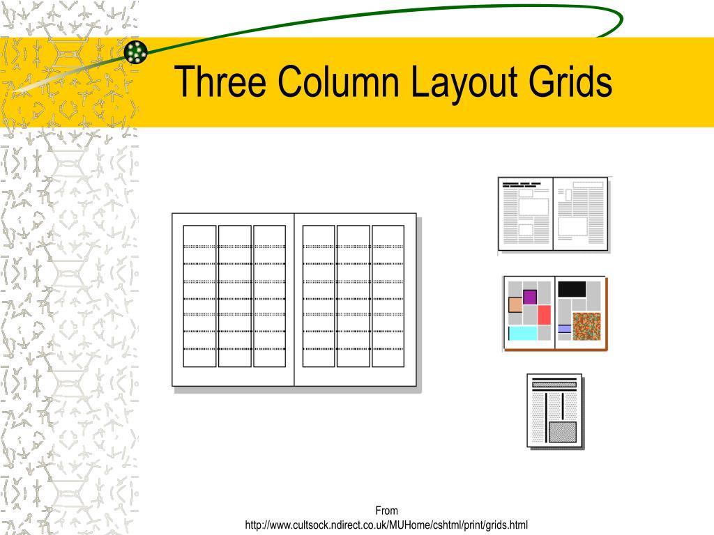Three Column Layout Grids