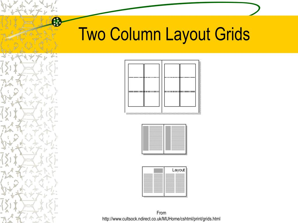 Two Column Layout Grids