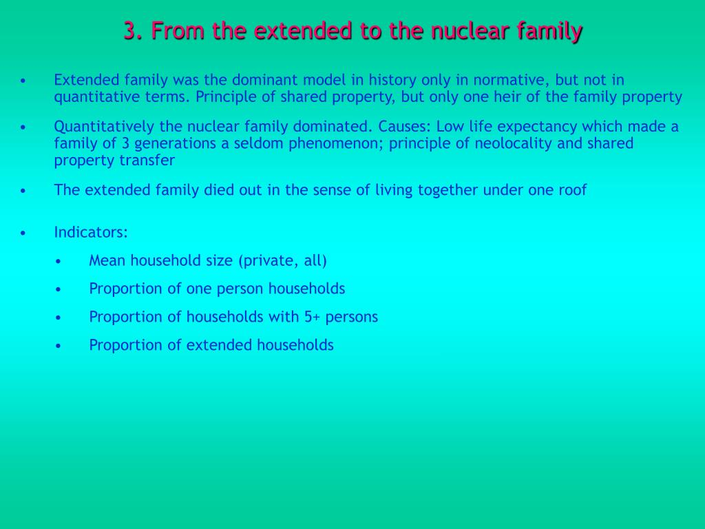 3. From the extended to the nuclear family
