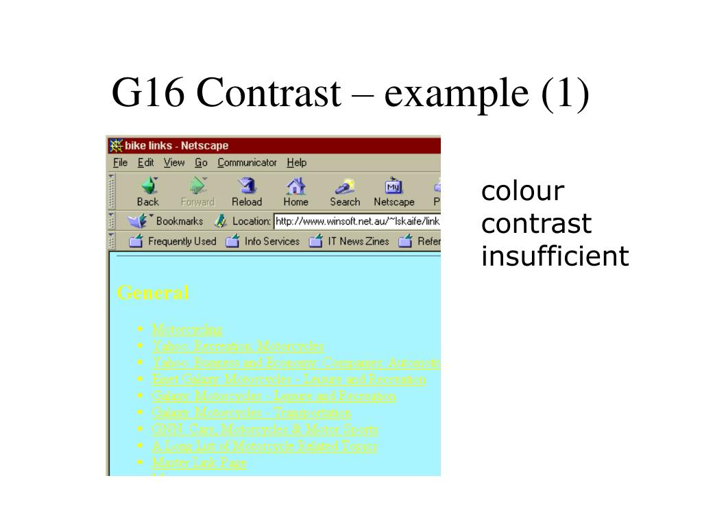 G16 Contrast – example (1)