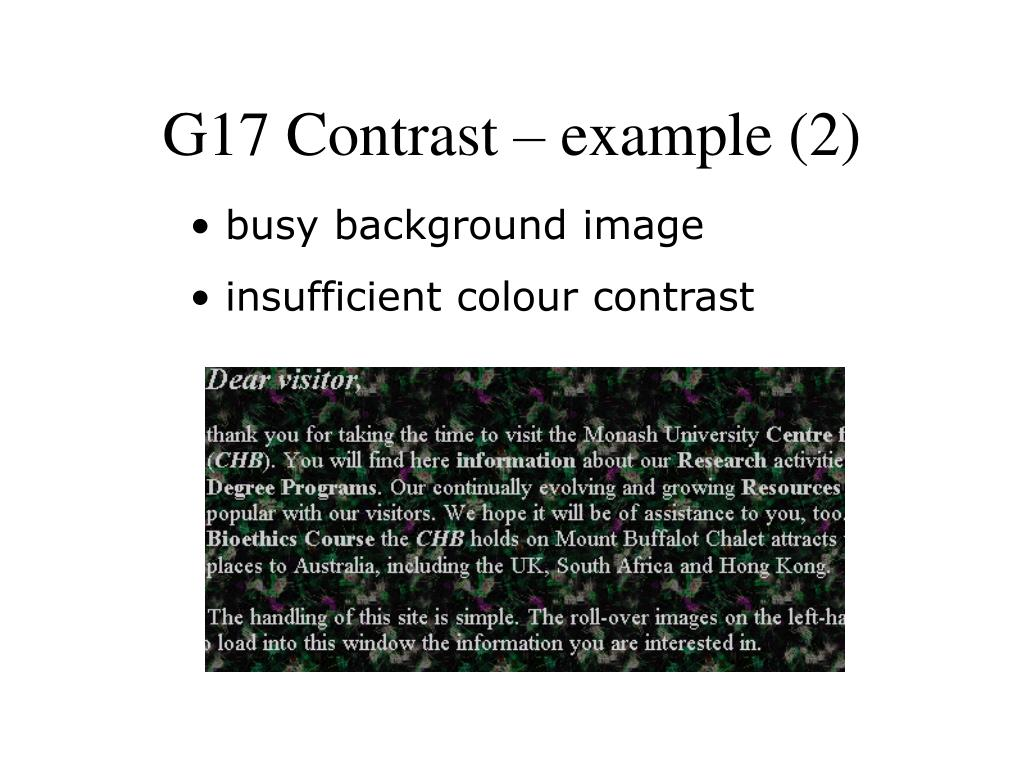 G17 Contrast – example (2)
