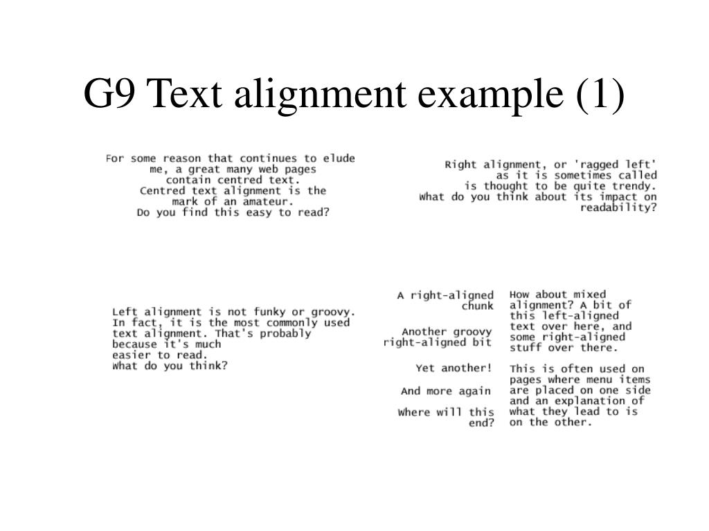 G9 Text alignment example (1)