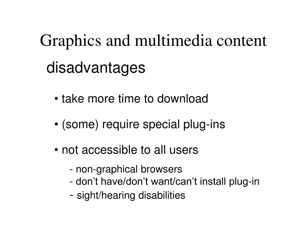Graphics and multimedia content
