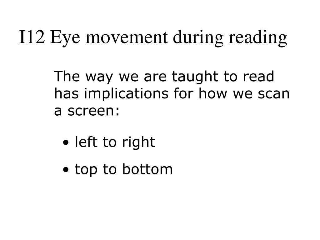 I12 Eye movement during reading