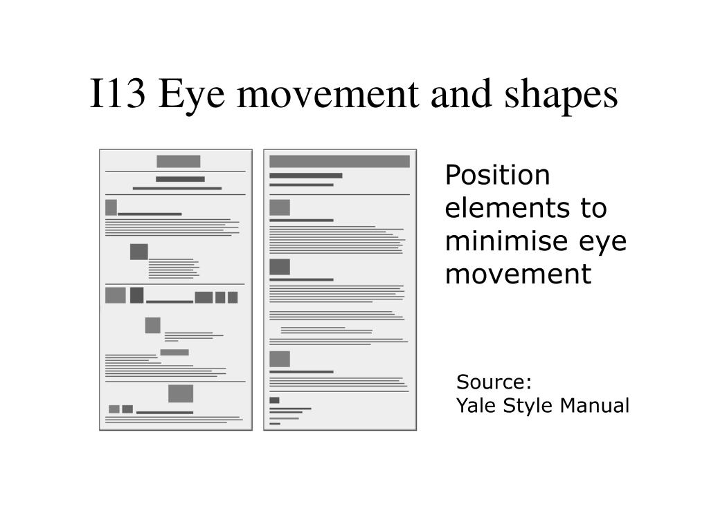 I13 Eye movement and shapes
