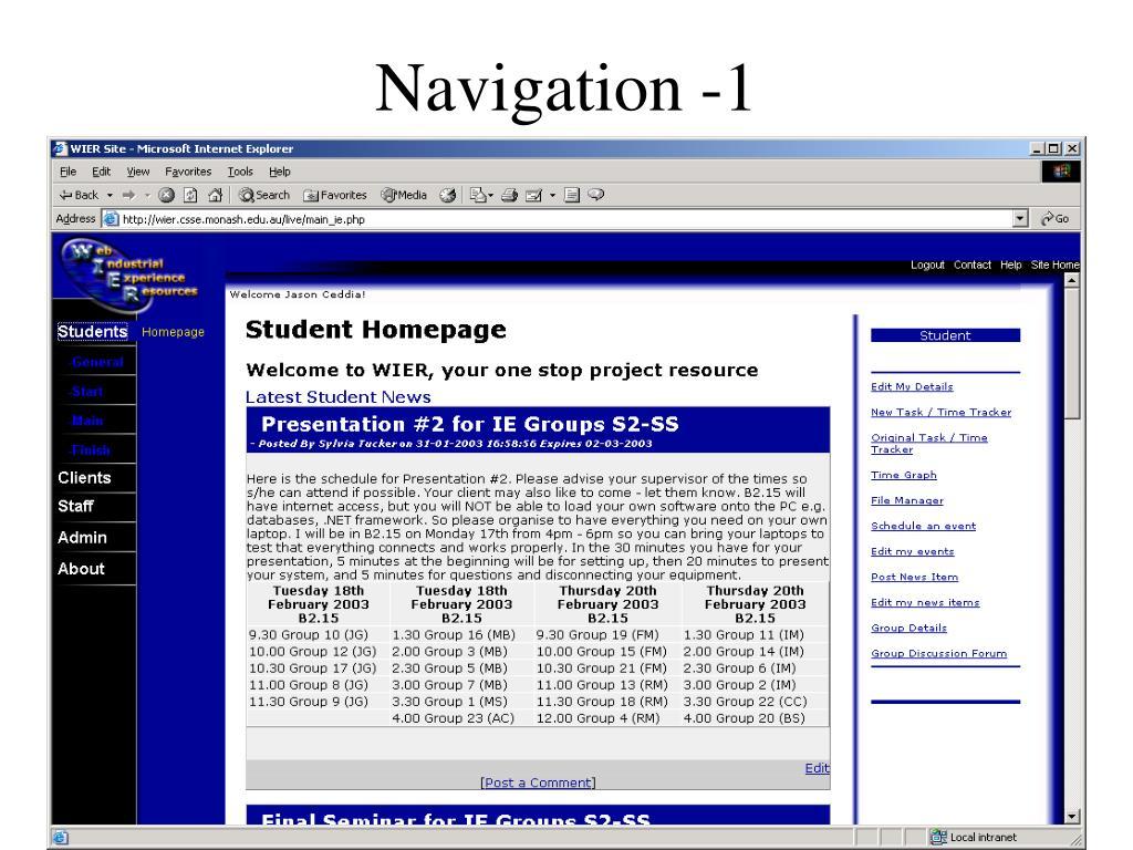 Navigation -1