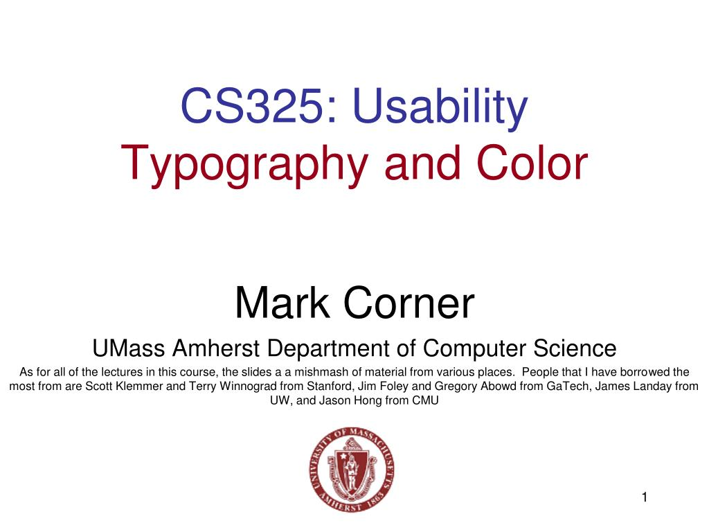 cs325 usability typography and color l.