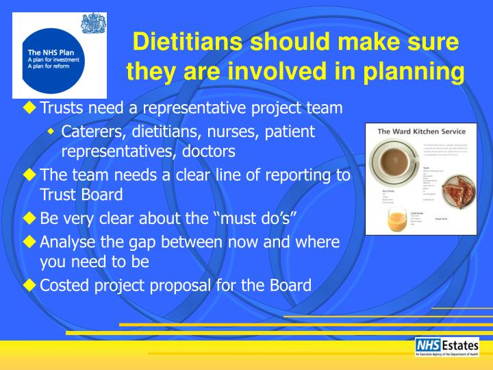 Dietitians should make sure they are involved in planning