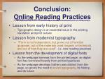 conclusion online reading practices