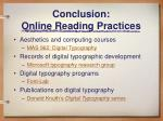 conclusion online reading practices19
