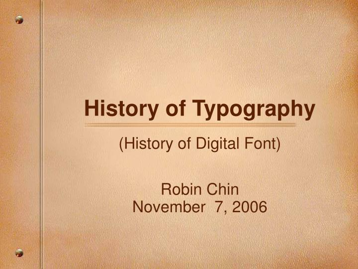 history of typography n.