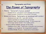 typography and print the power of typography