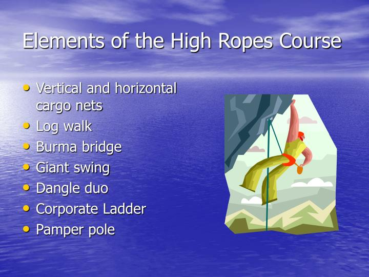 Elements of the High Ropes Course