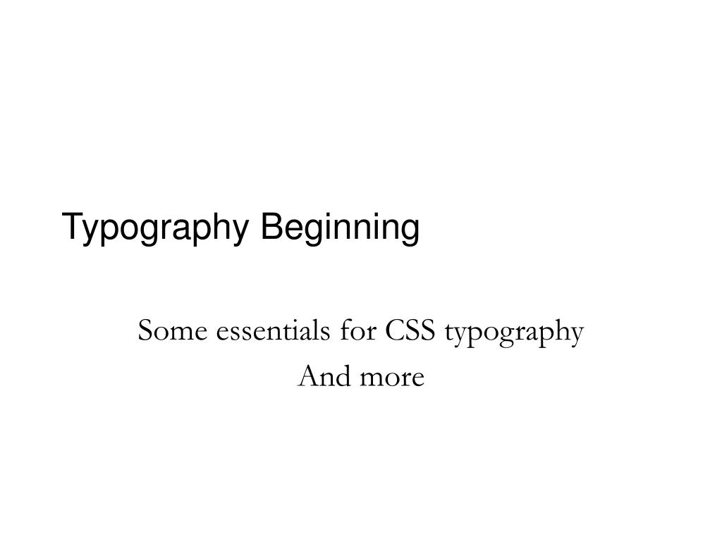 typography beginning l.