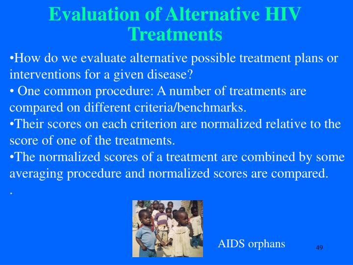 Evaluation of Alternative HIV Treatments