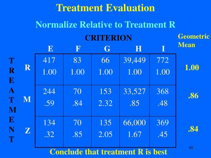 Treatment Evaluation
