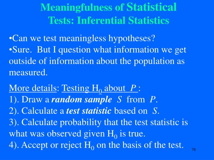 Meaningfulness of