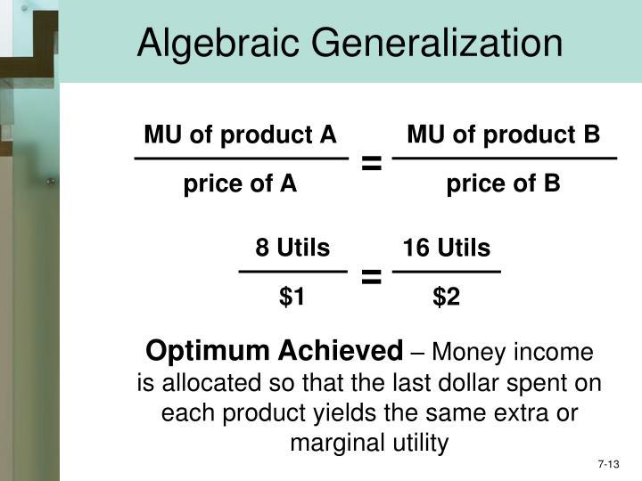 Algebraic Generalization