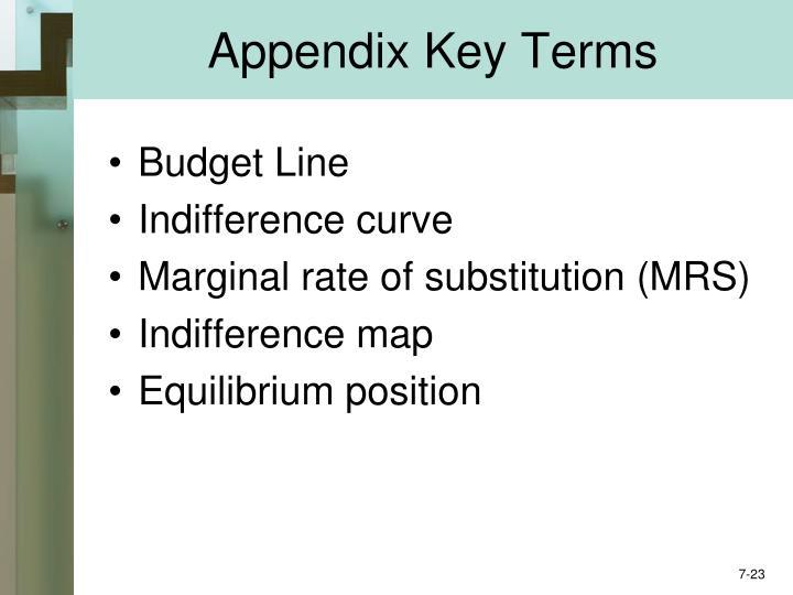 Appendix Key Terms