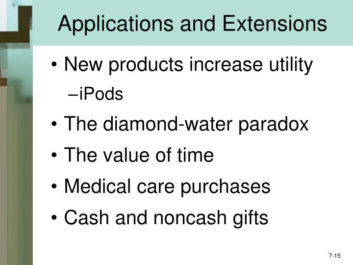 Applications and Extensions