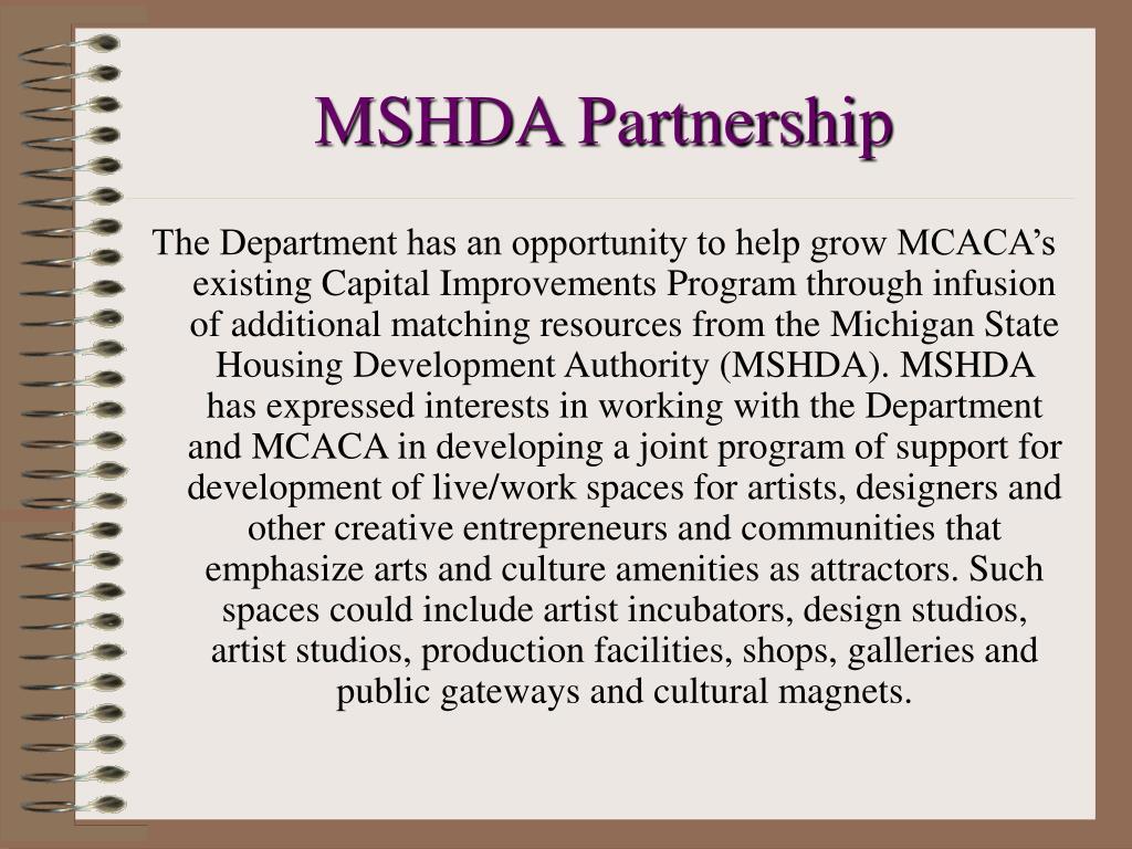 MSHDA Partnership