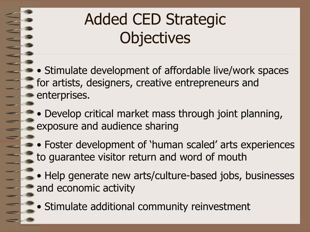 Added CED Strategic Objectives