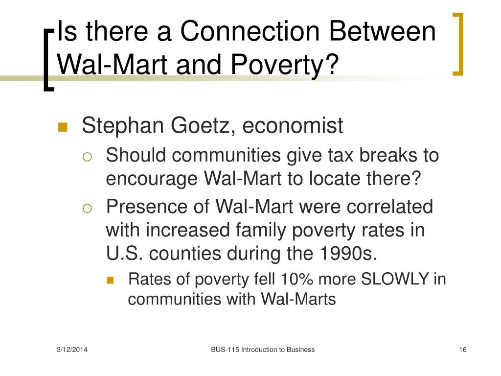 Is there a Connection Between Wal-Mart and Poverty?