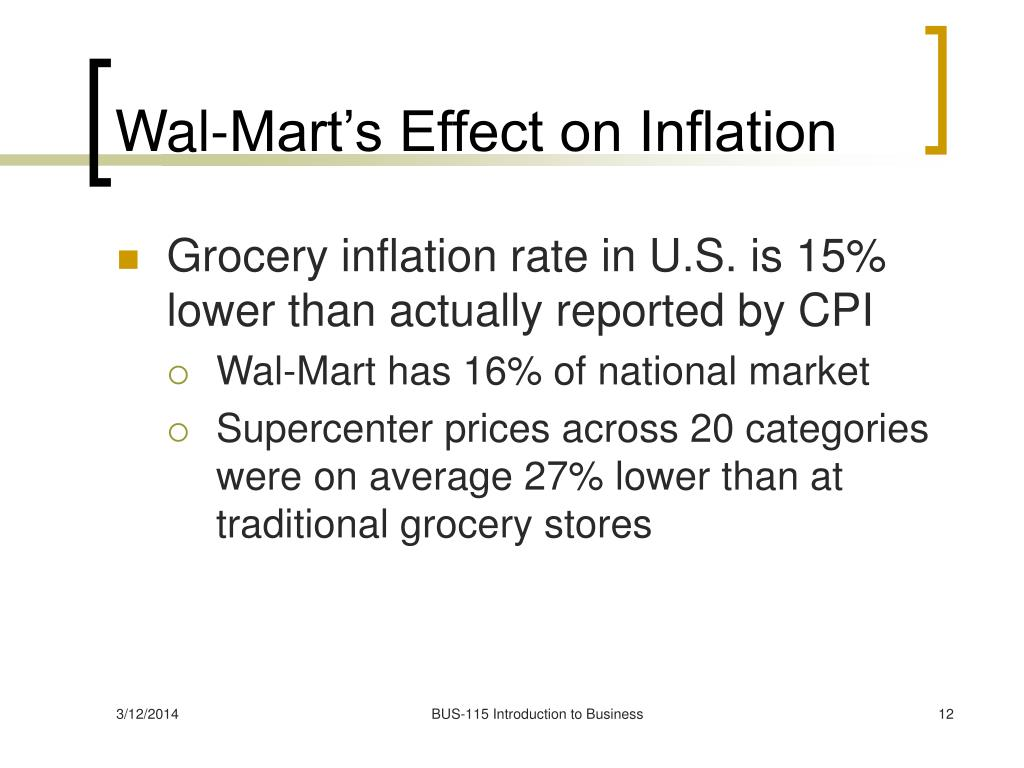 Wal-Mart's Effect on Inflation