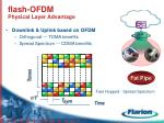 flash ofdm physical layer advantage