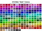 216 web safe colors http www websitetips com color colourchart html