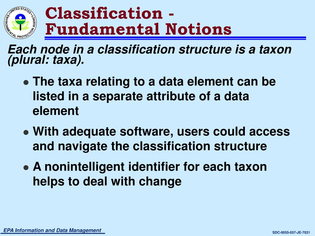 Classification -