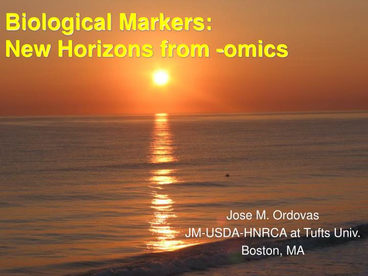 biological markers new horizons from omics