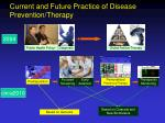 current and future practice of disease prevention therapy