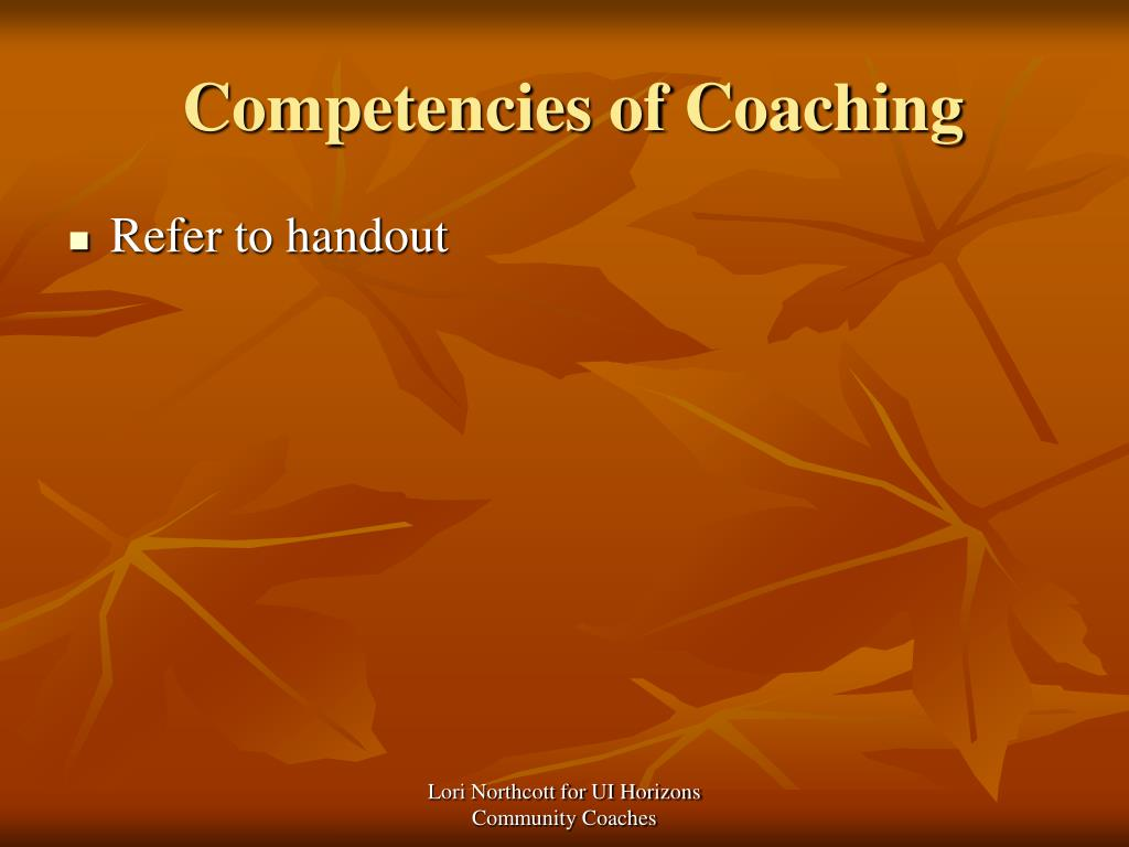 Competencies of Coaching