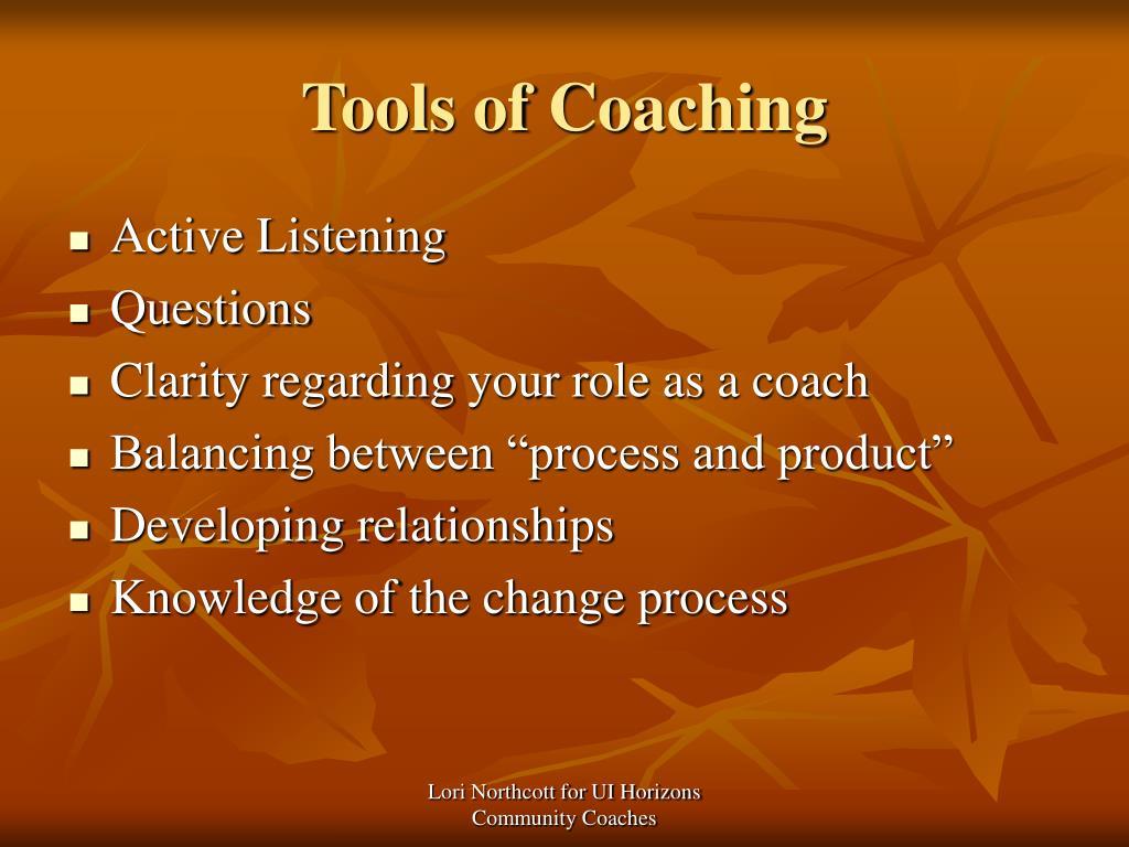 Tools of Coaching
