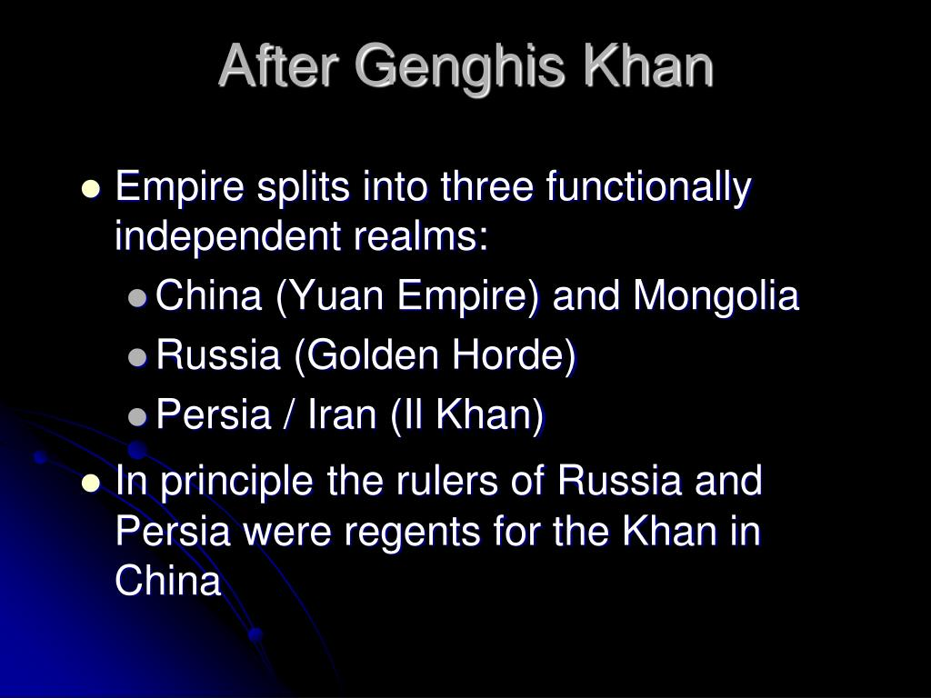 After Genghis Khan