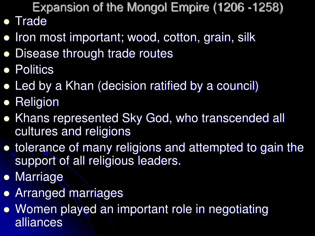 Expansion of the Mongol Empire (1206 -1258)