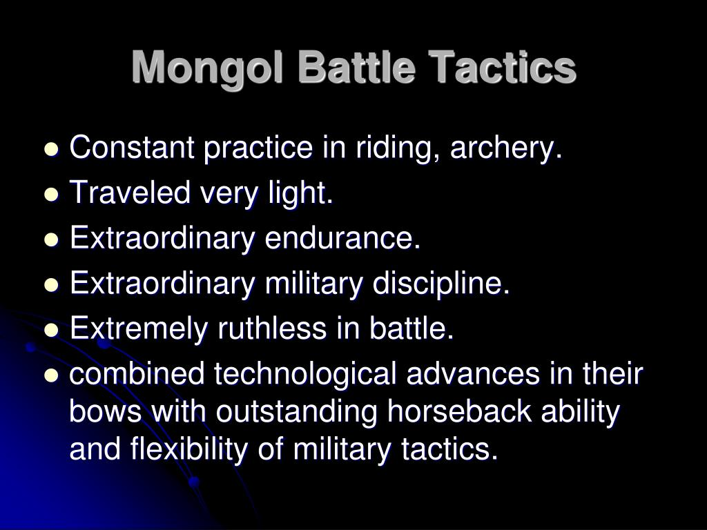 Mongol Battle Tactics