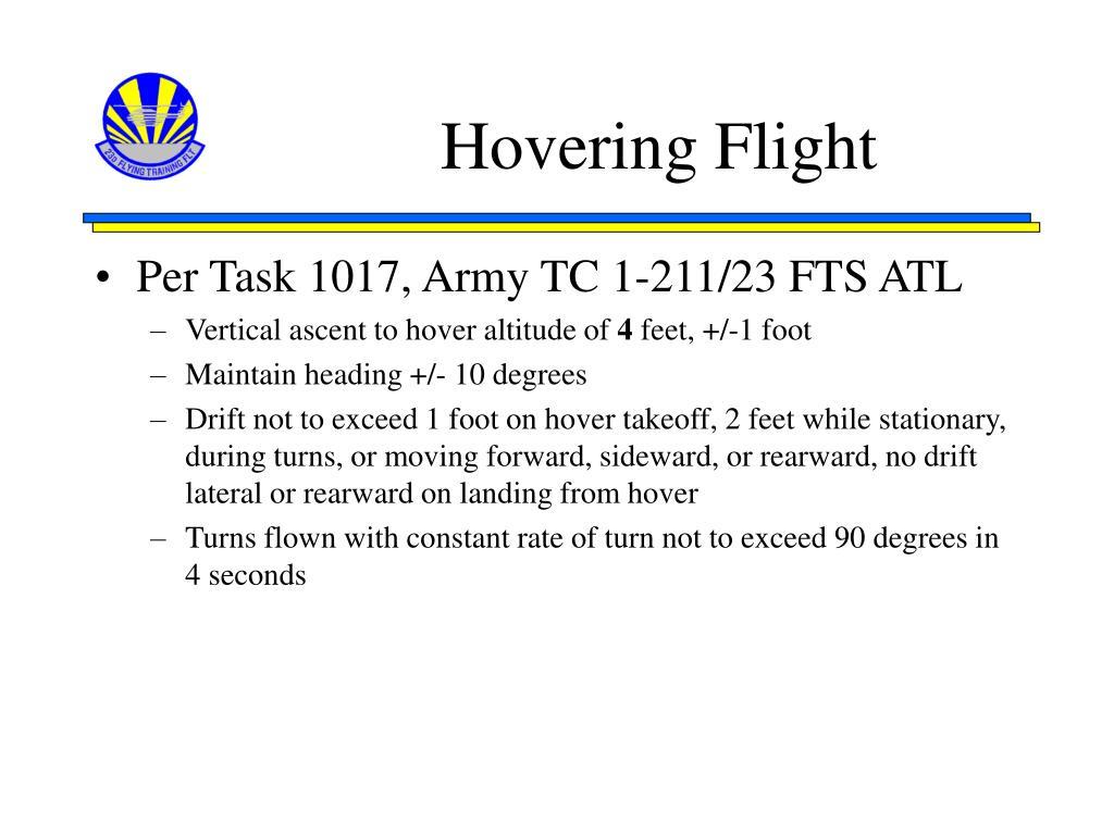 Hovering Flight