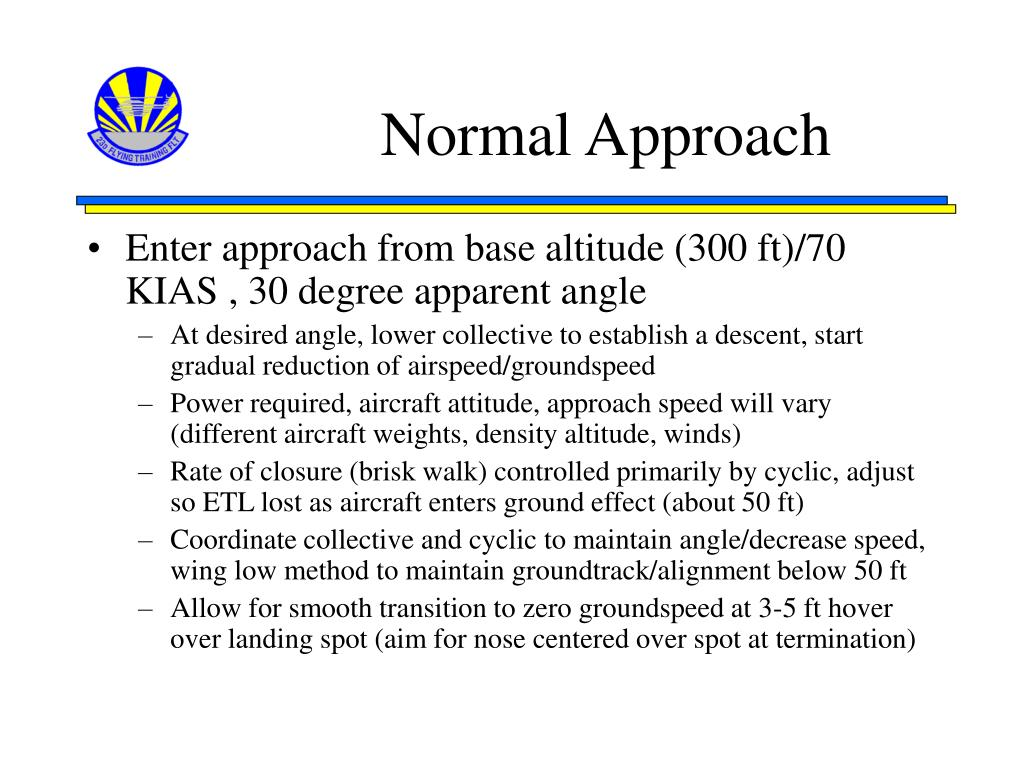 Normal Approach