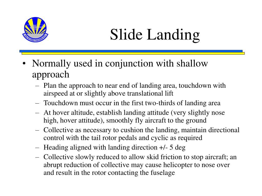 Slide Landing